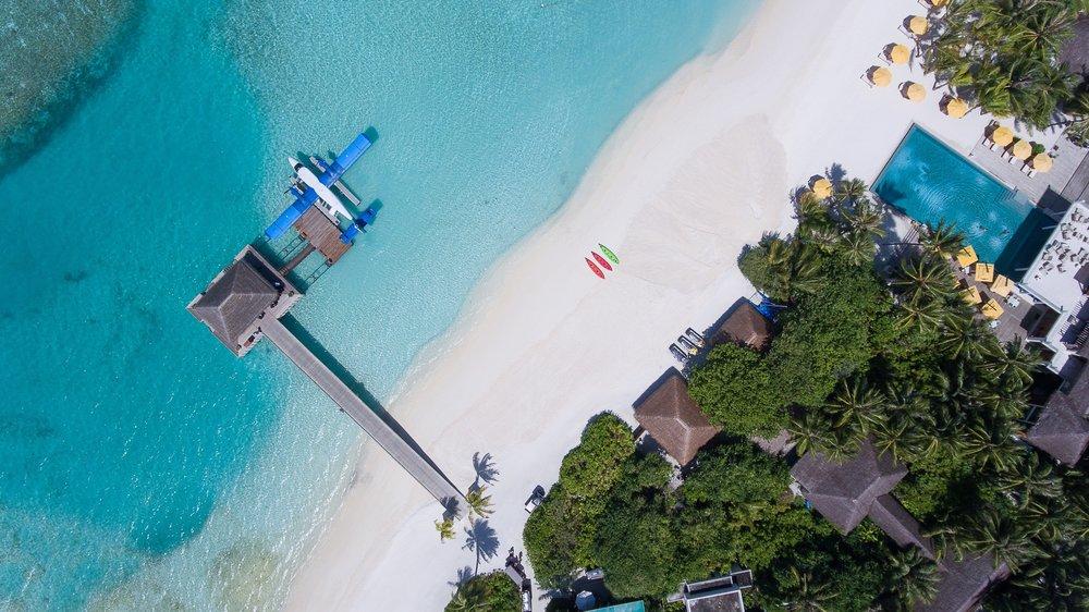 Best Surf Resort Maldives Niyama Luxury Sea Plane