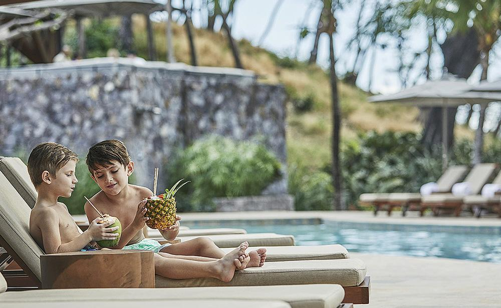 Fresh fruit juices by the pool