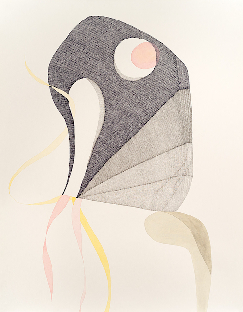 A Wandering Thought    2016  Pen, graphite, watercolour and gouache on Hahnemühle paper  108 x 79 cm