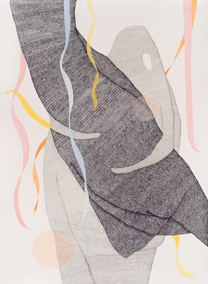 Long Night    2016  Pen, graphite, watercolour and gouache on Hahnemühle paper  108 x 79 cm