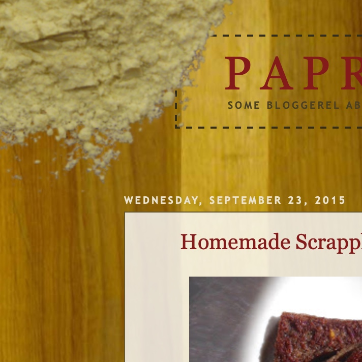 paprikahead - Baking, fermentation, cheese-making, canning… and scrapple.Personal cookery blog.