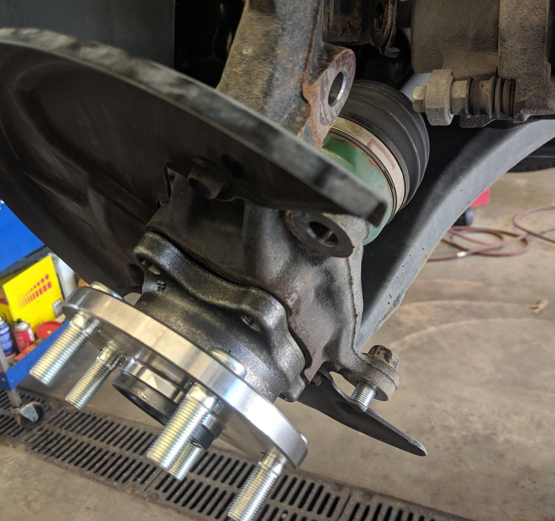 DIY: Subaru front wheel bearing assembly install! Taking it