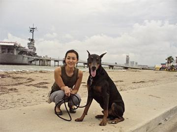 飼っている犬と旅行したコーパスクリスティ