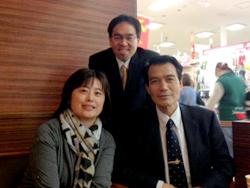 十河先生(右)遠井先生(中央)