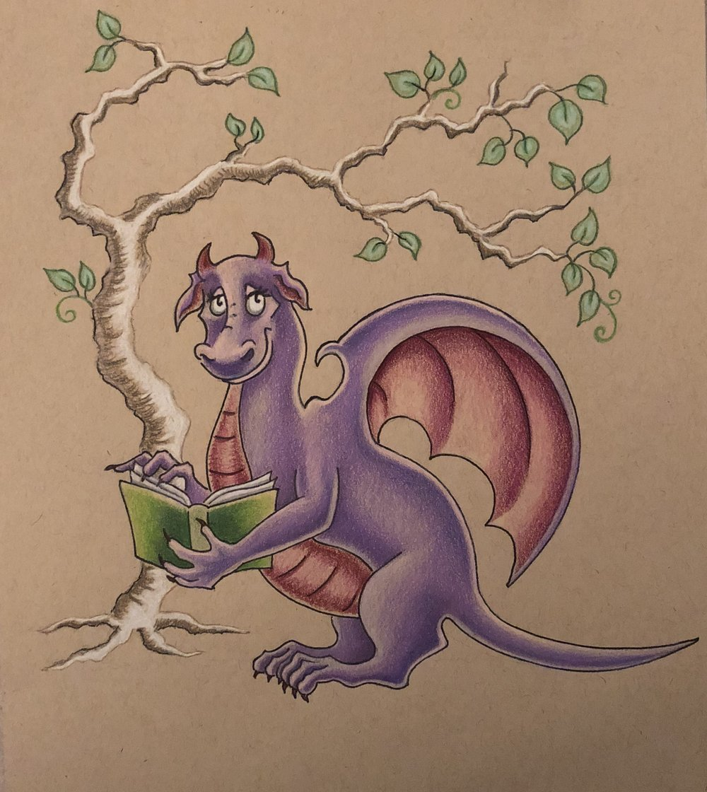 My literary dragon - There's nothing better than reading under a tree!