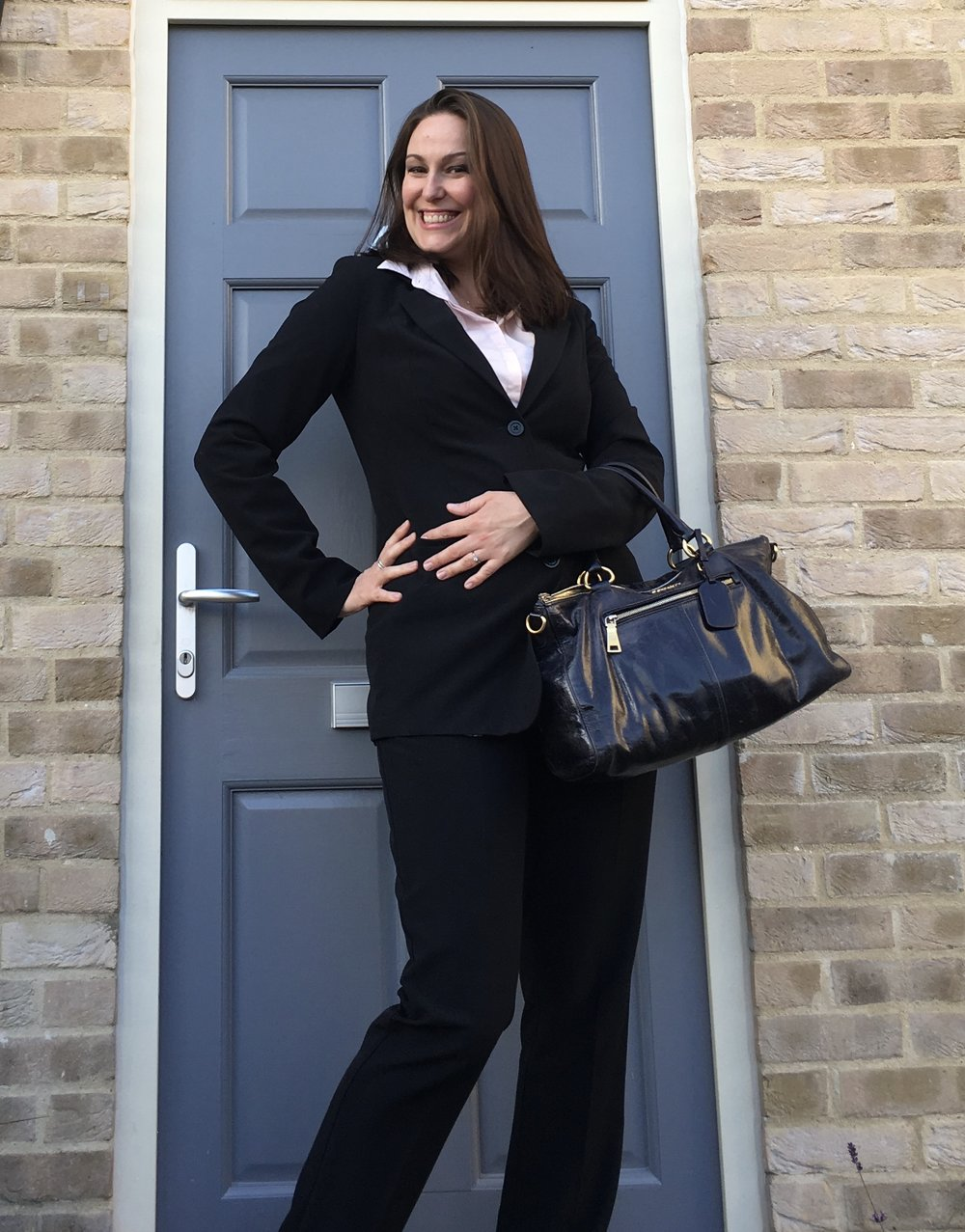 Here's me on my first day as a Partner.