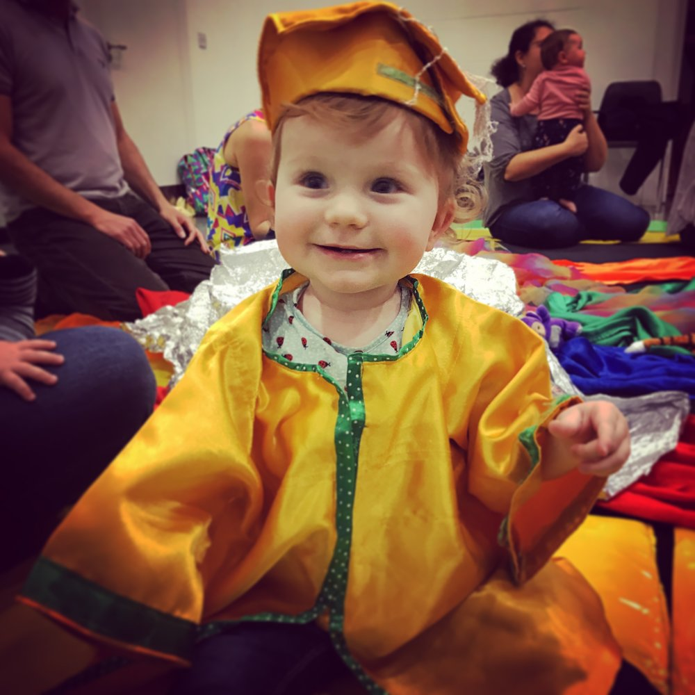 Delilah 'graduating' from Baby Sensory in March 2017.
