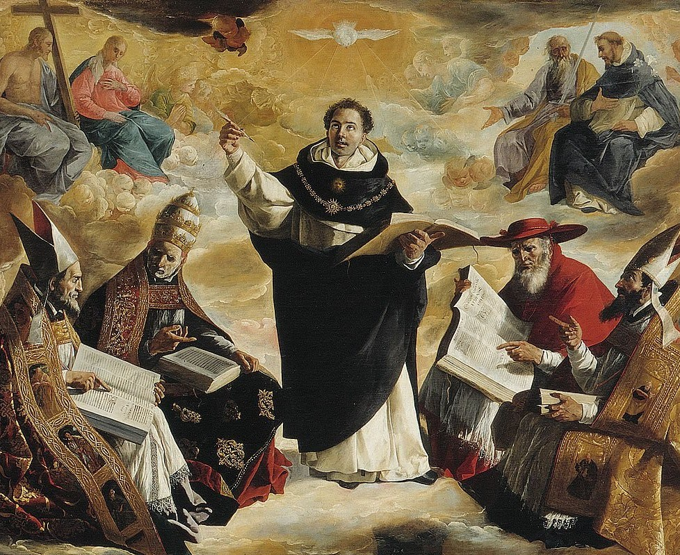 Apotheosis of St Thomas Aquinas by Francisco de Zurbarán (1631)