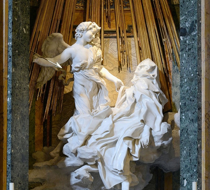 Ecstasy of St Teresa by Gian Lorenzo Bernini (1652)