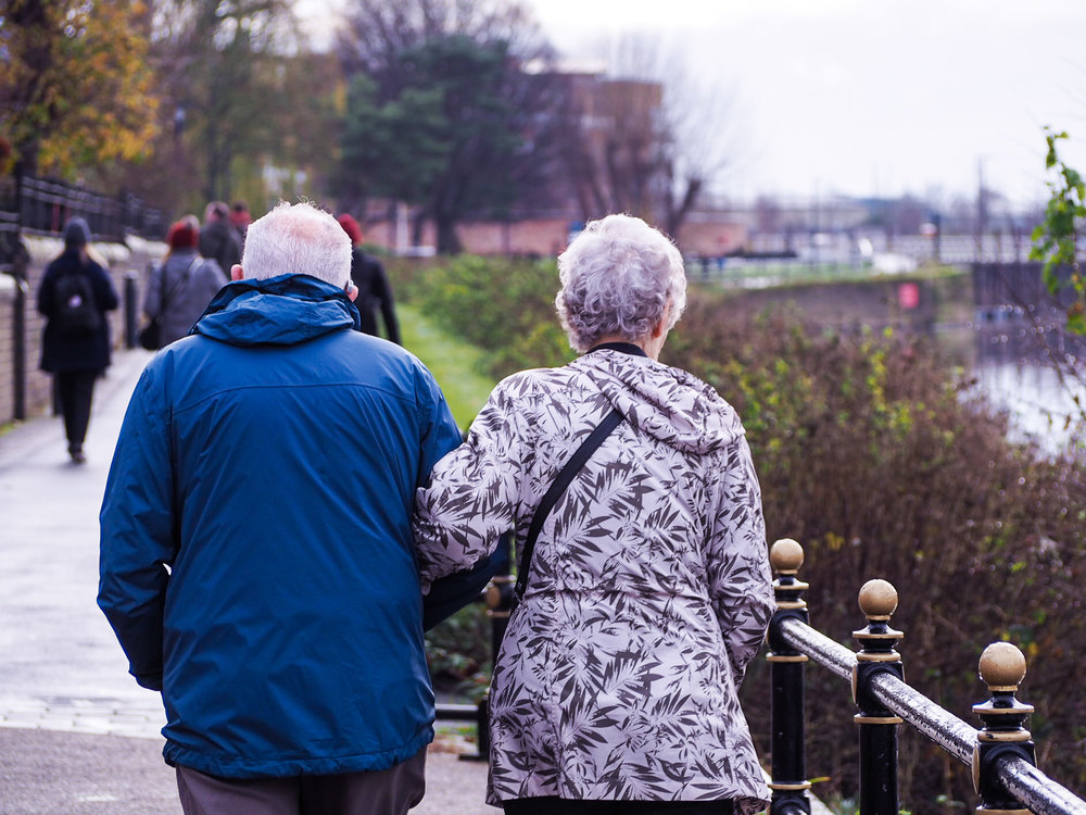 Love is ageless - old couple