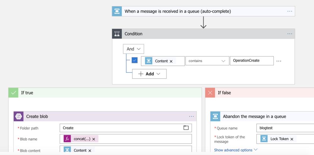 Azure Logic App Designer - Triggered by Azure Service Bus