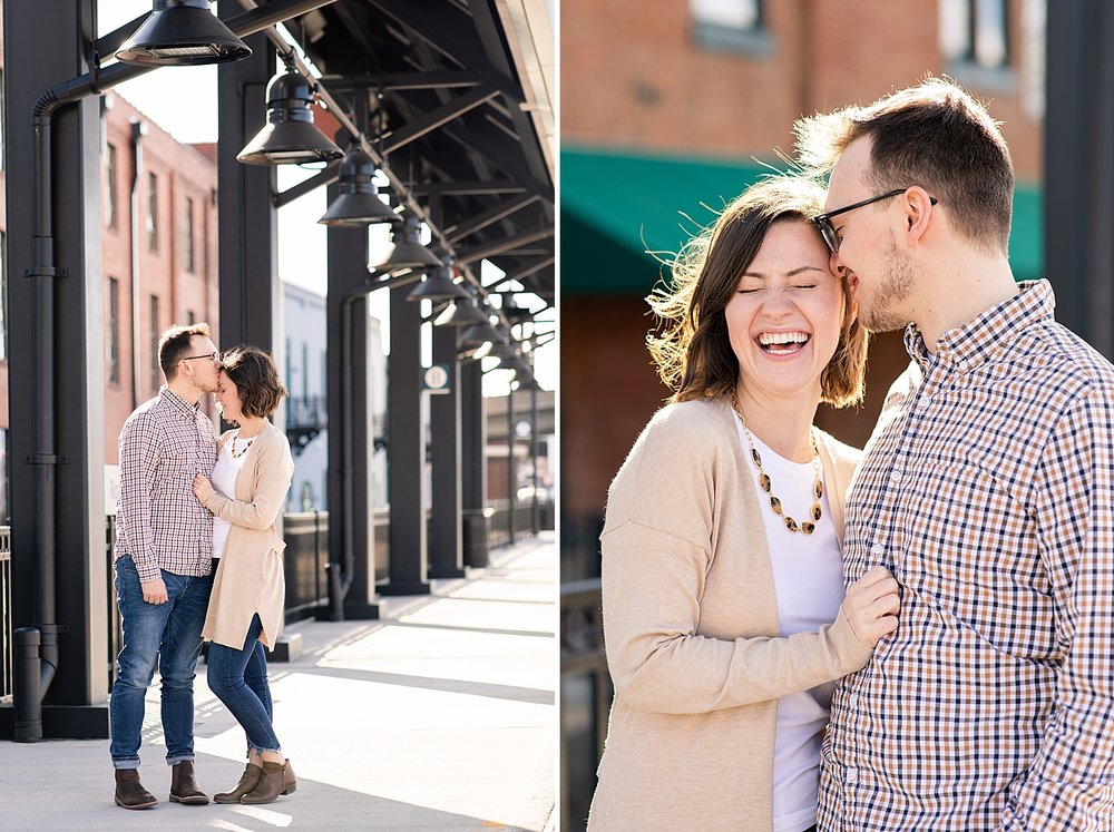 I love these two shots! Look at Michaela's laugh, she is precious.