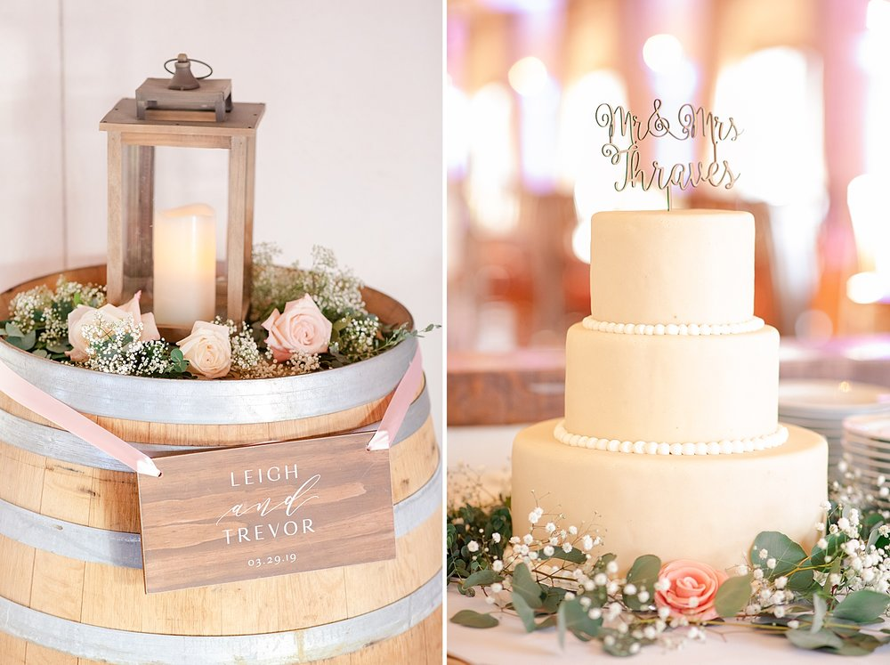 This cake was divine! It was my first time eating  Albemarle Baking Co 's cake and I have to say that Leigh and Trevor chose well!!