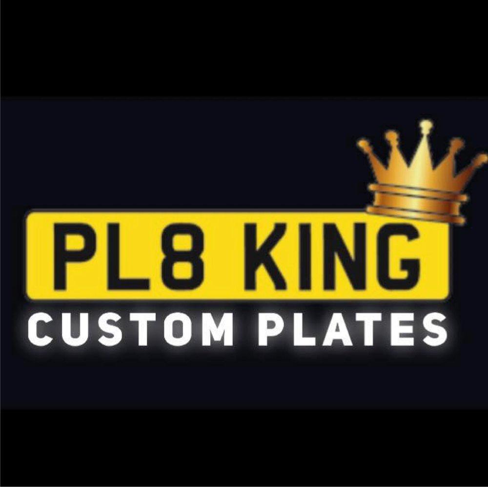 PL8 King - Custom Number Plates