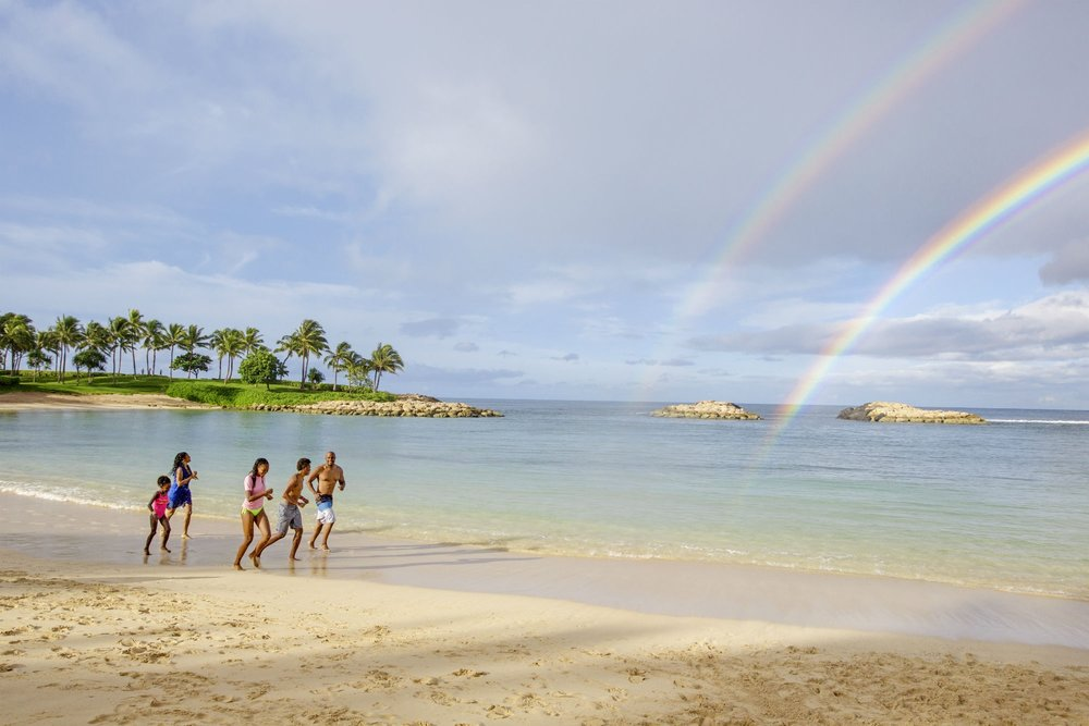 Hawaii - The aloha state offers fantastic vacation options, from cruises with major cruise lines through the Hawaiian islands, a stay at Disney's Aulani Resort on the island of Oahu, or a getaway on any of the major Hawaiian islands for rest and relaxation on the beach.