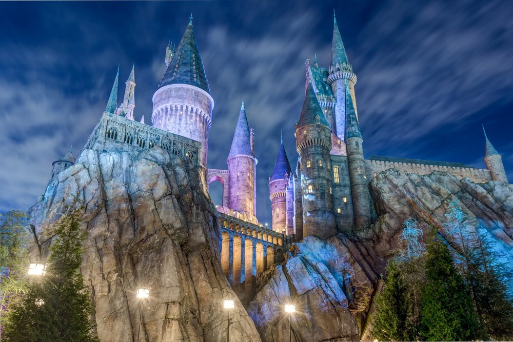 THEME PARKS - Universal Orlando Resorts theme parks, Universal Studios Florida and Islands of Adventure, are world-class entertainment complexes. Each is home to their own thrilling attractions and their own portion of the Wizarding World of Harry Potter, the former with Hogsmeade, and the latter encompassing Diagon Alley.