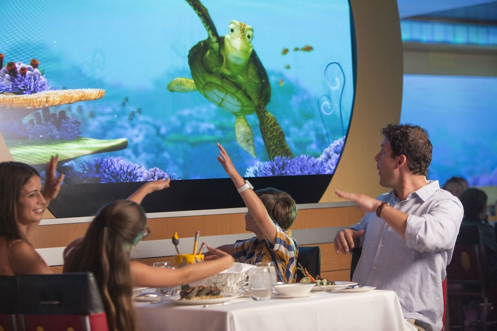 Dining Options - Boasting diverse global cuisines and restaurants that are lavishly themed and brimming with charm, Disney Cruise Line invites you to sit back and savor the finest dining at sea.