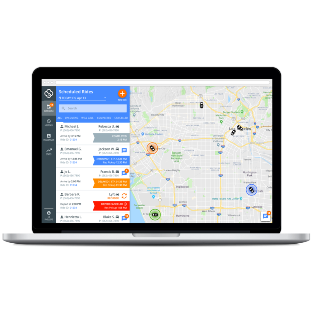 ride scheduling tools - With SafeRide, you have the ability to book rides for your patients at the time of appointment scheduling. Our easy-to-use platform authorizes the patient's benefit, matches the patient to the appropriate vehicle and driver, and provides real-time visibility into the ride status.
