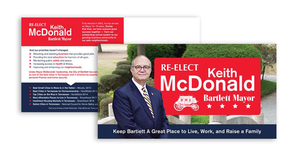 Mayor Keith McDonald Re-Election Postcard