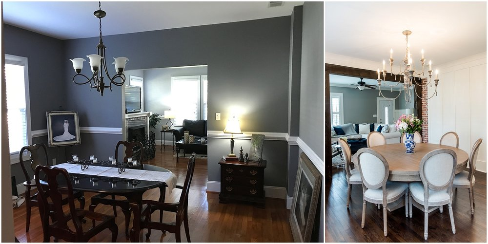 Before & After Photos College Avenue Dining Room Renovation Project