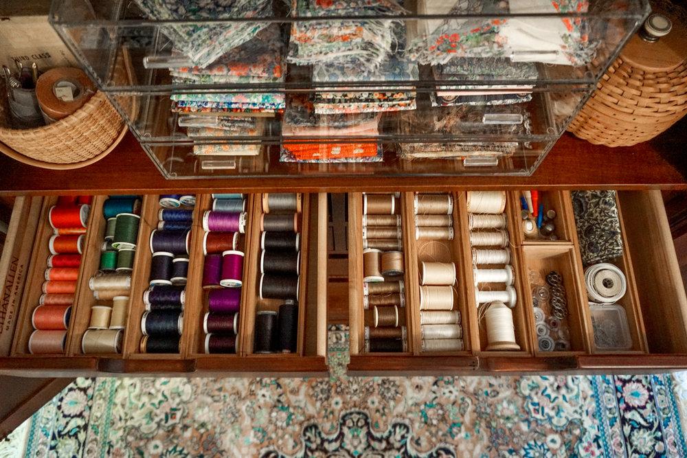 House of Turk | Thread Organization, Sewing Room Organization
