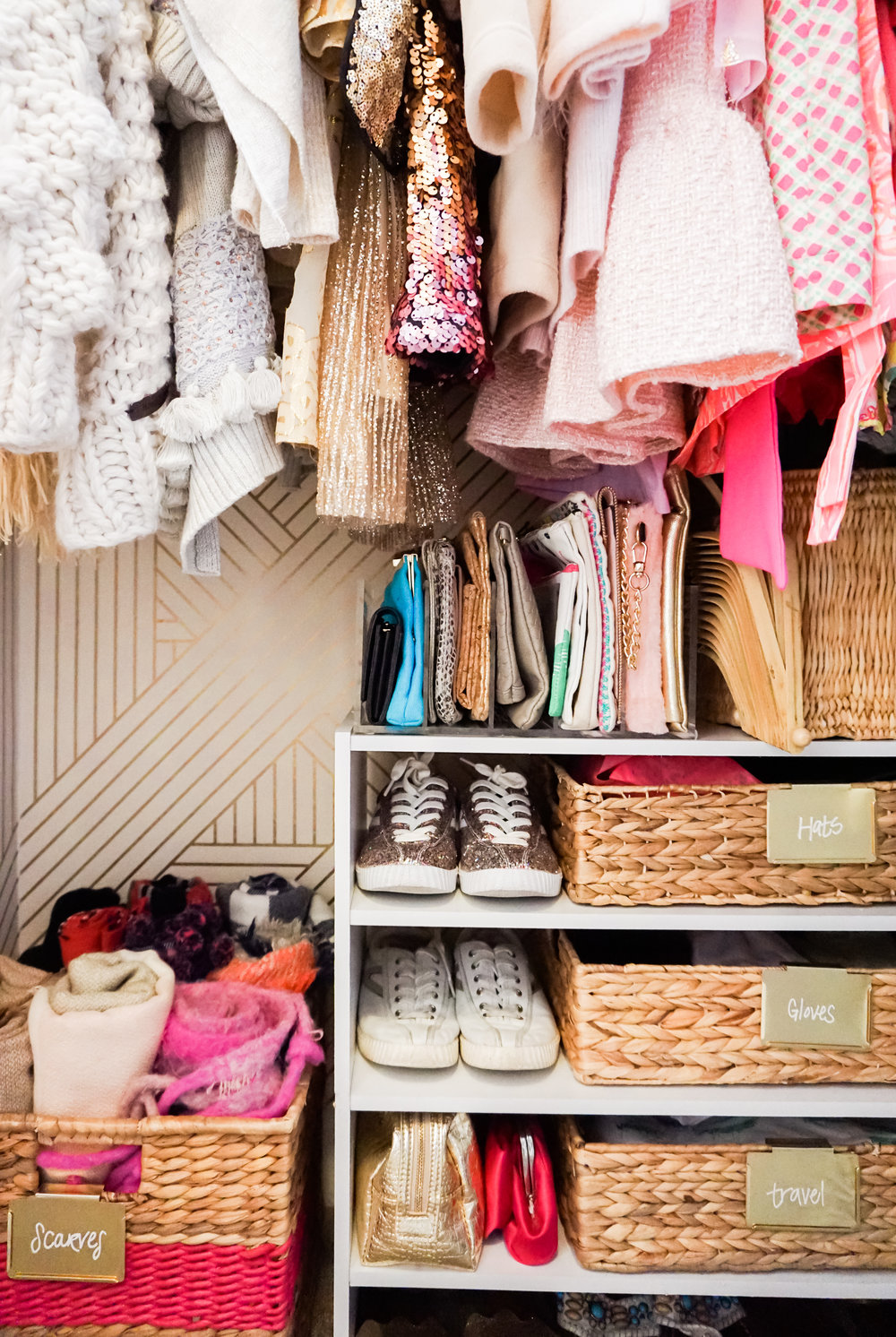 House of Turk | Closet Organization, Stacking Shelves with Baskets