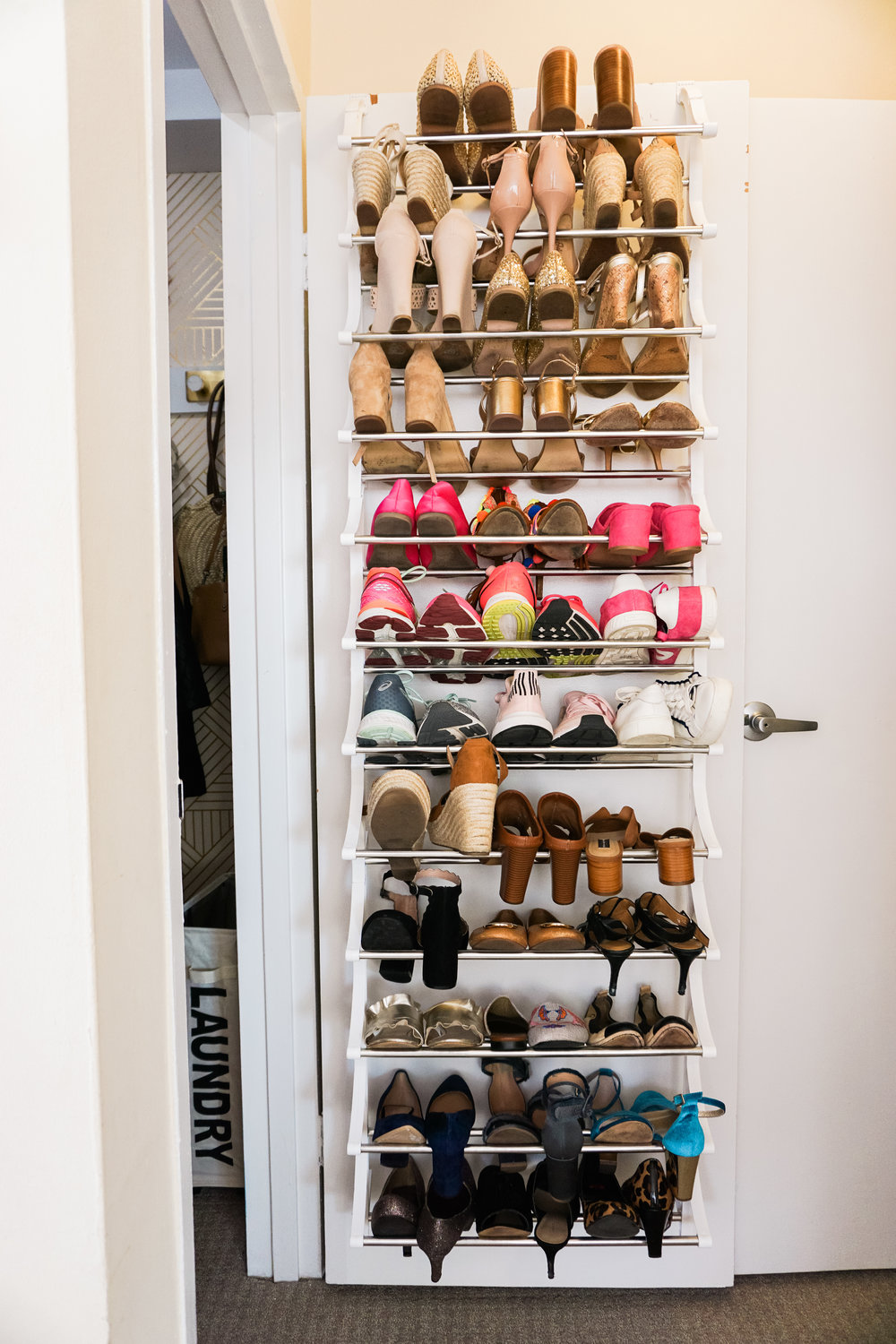 House of Turk | Closet Organization, Over door shoe rack
