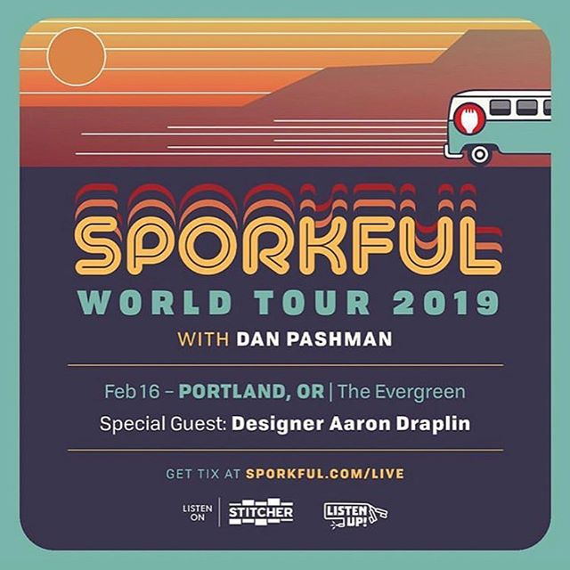 Up next, we're on our way to @theevergreenpdx! See you at 1 PM for @The Sporkful with special guest Aaron Draplin @draplin #ListenUpPDX 😋🍴 ⁣ Tickets will be available at the door!⁣ ⁣ #podcast #podcasts #podcasting #podcaster #podcastlife #podcastaddict #podcastlove #podcastjunkie #itunespodcast #spotifypodcast #applepodcast #portland #pdxnow #pdxevents #pdx #portlandoregon #portlandor #dossiernaturally #hellosentinel #hoteldeluxe #houseofwelcome #provenancehotels