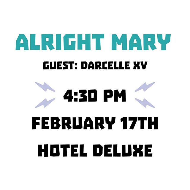 Show starts at 4:30 PM! See you at @hotel_deluxe for Alright Mary with special guest @darcellexvshowplace! We have room for a few more—tickets will be available at the door✨ #ListenUpPDX ⁣⁣ ⁣ #podcast #podcasts #podcasting #podcaster #podcastlife #podcastaddict #podcastlove #podcastjunkie #itunespodcast #spotifypodcast #applepodcast #portland #pdxnow #pdxevents #pdx #portlandoregon #portlandor #dossiernaturally #hellosentinel #hoteldeluxe #houseofwelcome #provenancehotels⁣