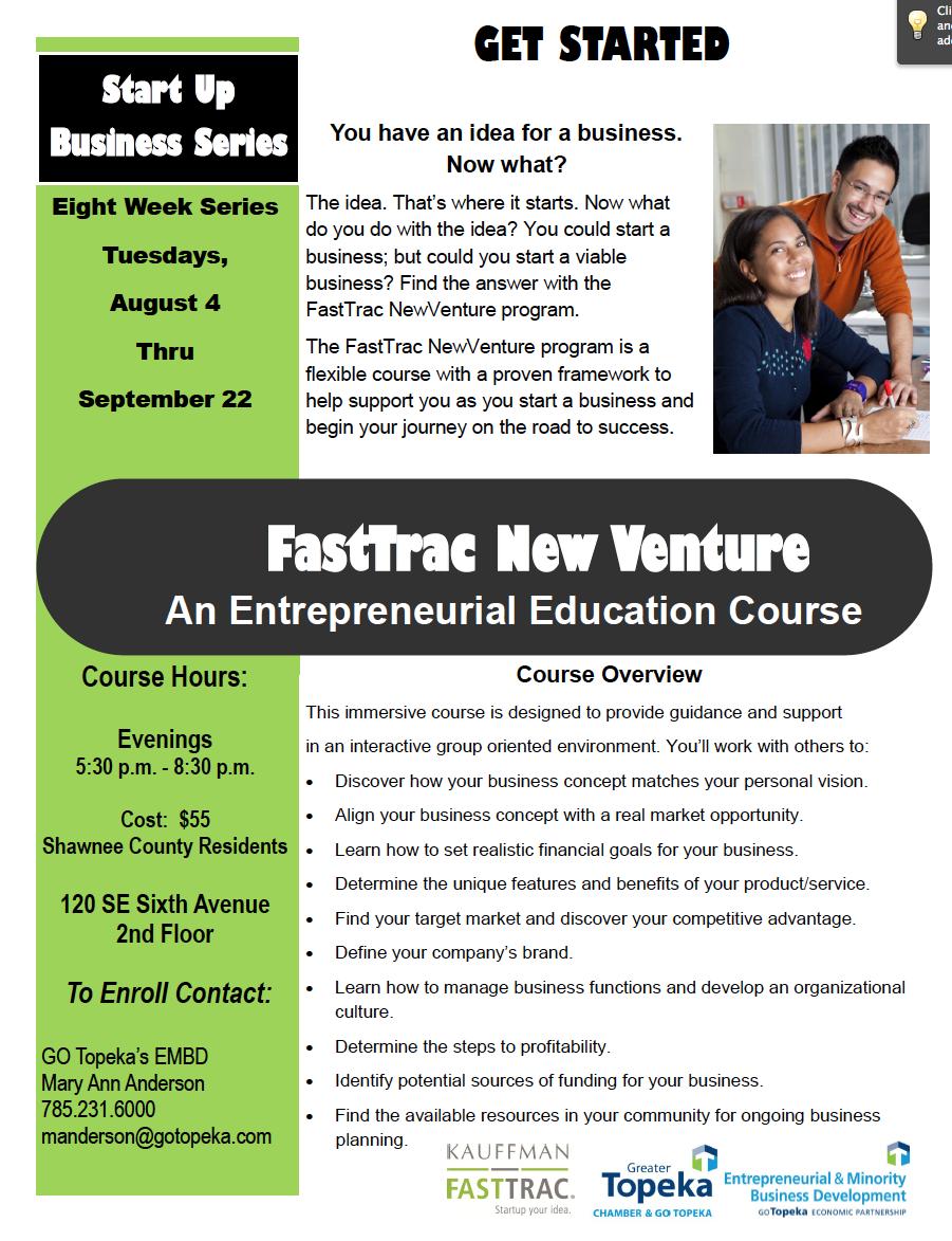 FastTrac New Venture pg 1