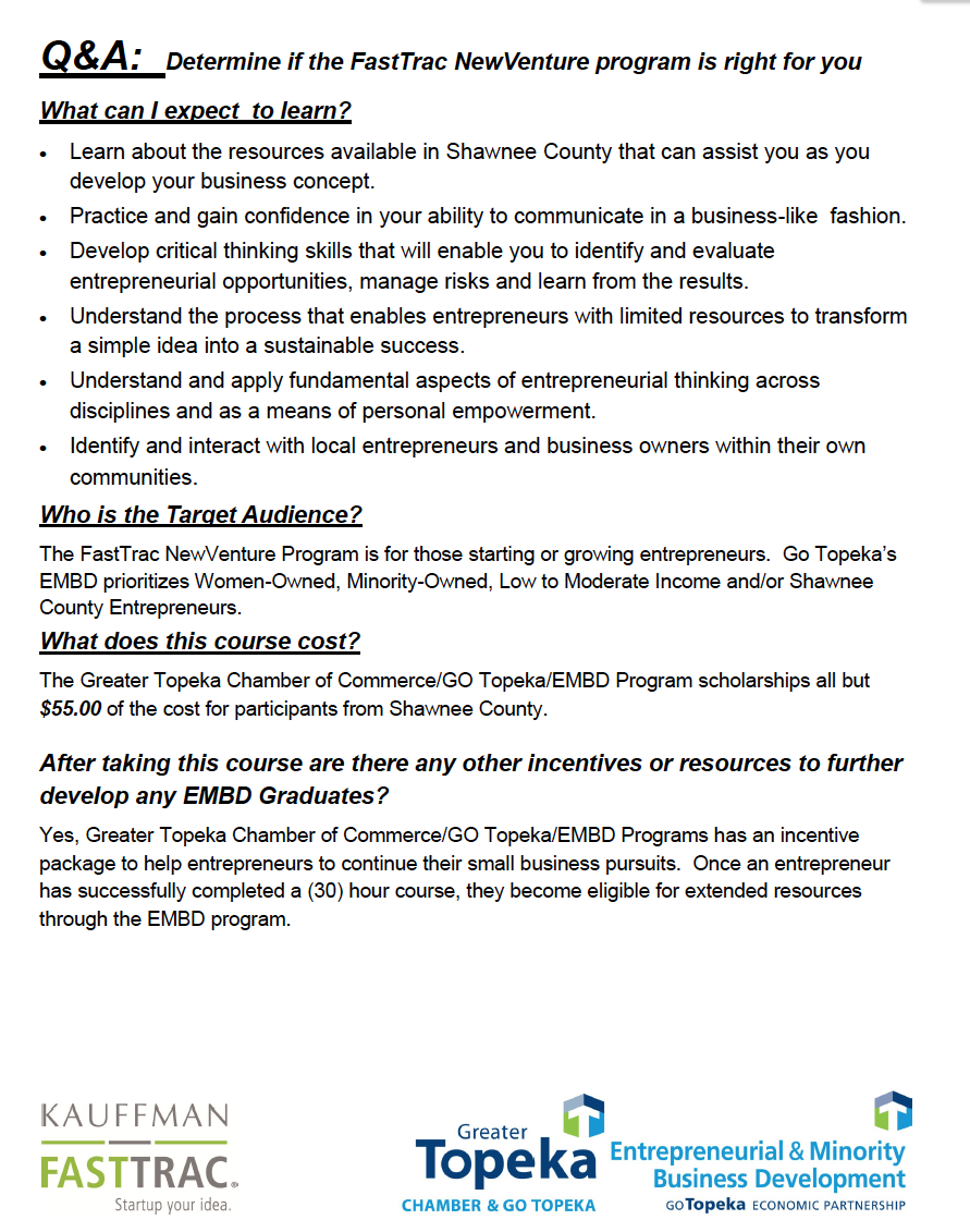 FastTrac New Venture pg 2