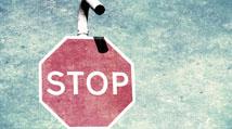 Vintage grunge red stop sign