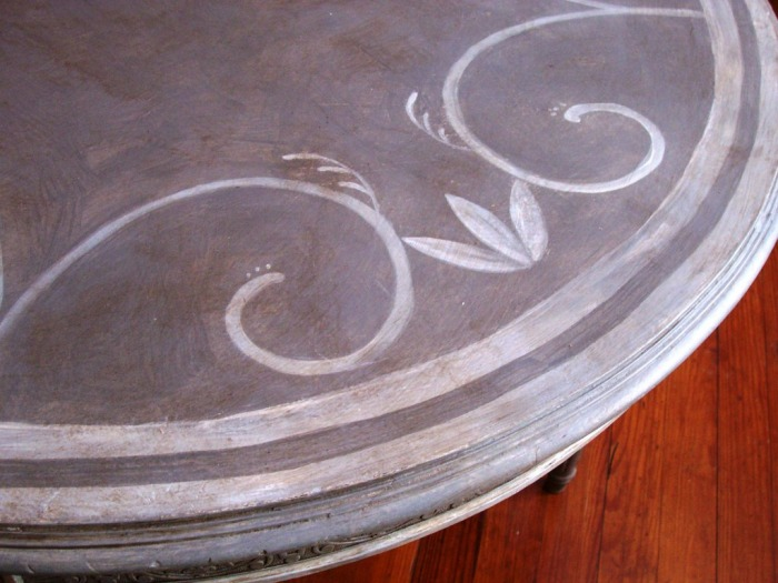 Swedish style painted table top, 2007.