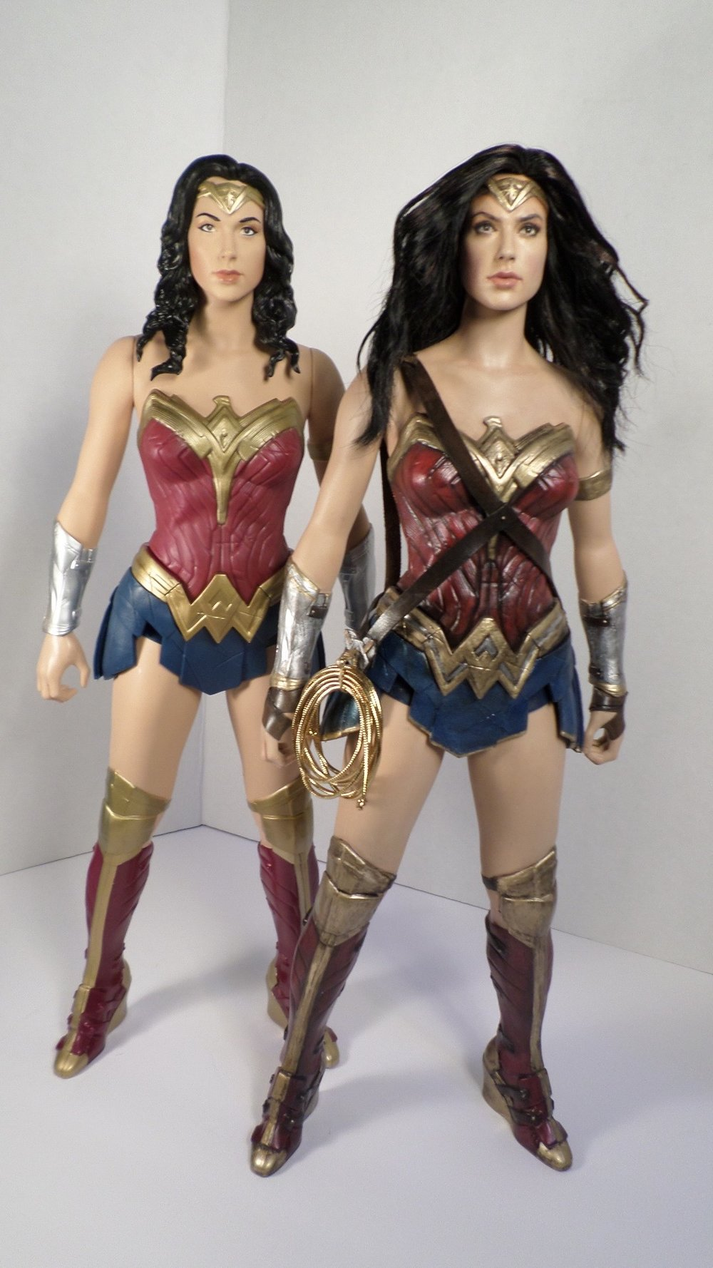 Wonder Woman action figure redo. Comparison before and after. 2017.