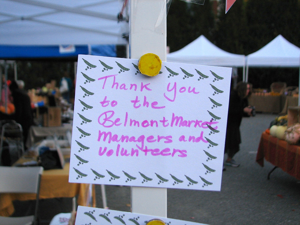 - Working at the Belmont Farmers' Market is a real community experience. Come join us!