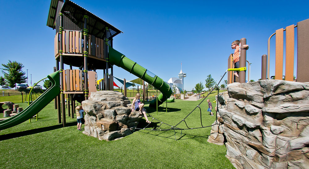 Playground Grass™  Safety is our priority, but fun is the goal.
