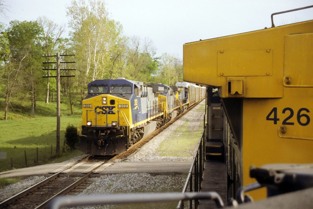 "April 2002 - First southbound trip to Nashville. Had to ride the second engine because the conductor that was supposed to be showing me the ropes didn't want to be ""bothered by a damn cub""."