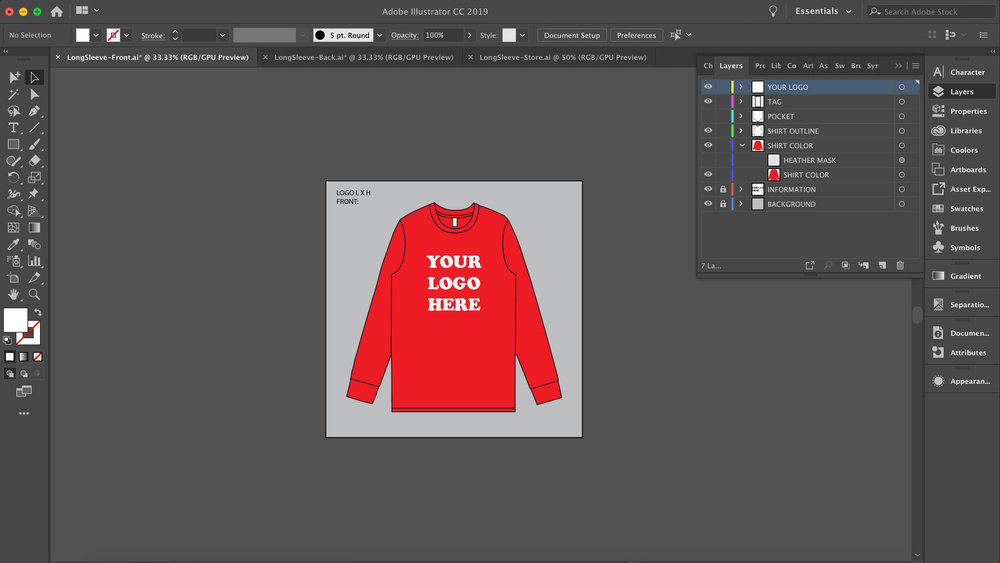 Mockup Templates - try one our custom designed templates for your next shirt idea.Available in .eps for full editing convenience.