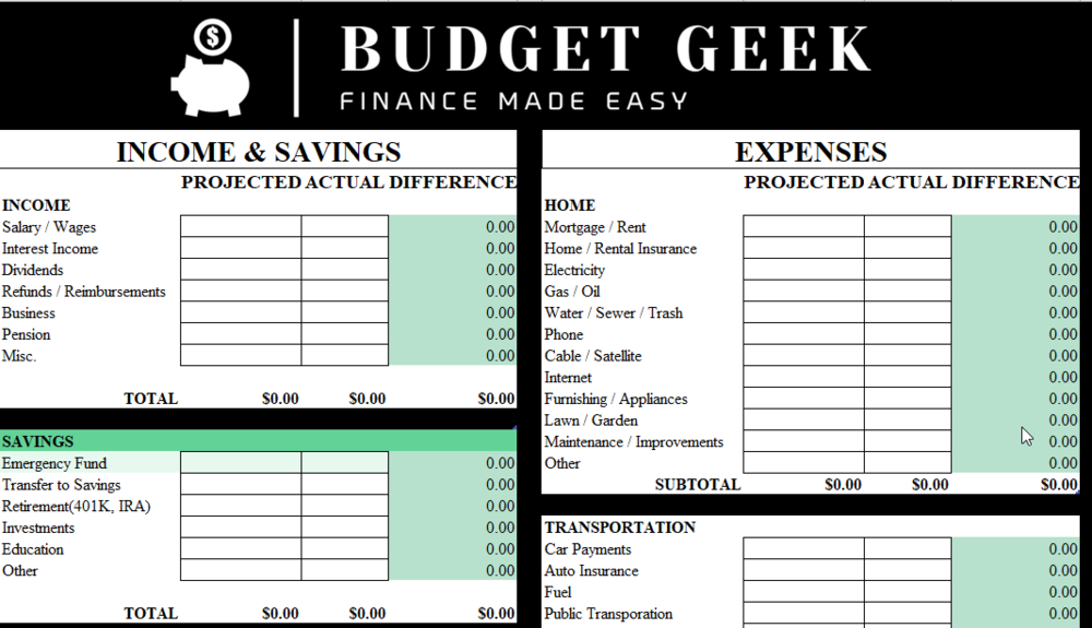 Download our budget spreadsheet for Googlesheets.