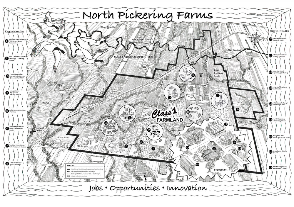 NORTH PICKERING FARMS - Vision Map, 2017