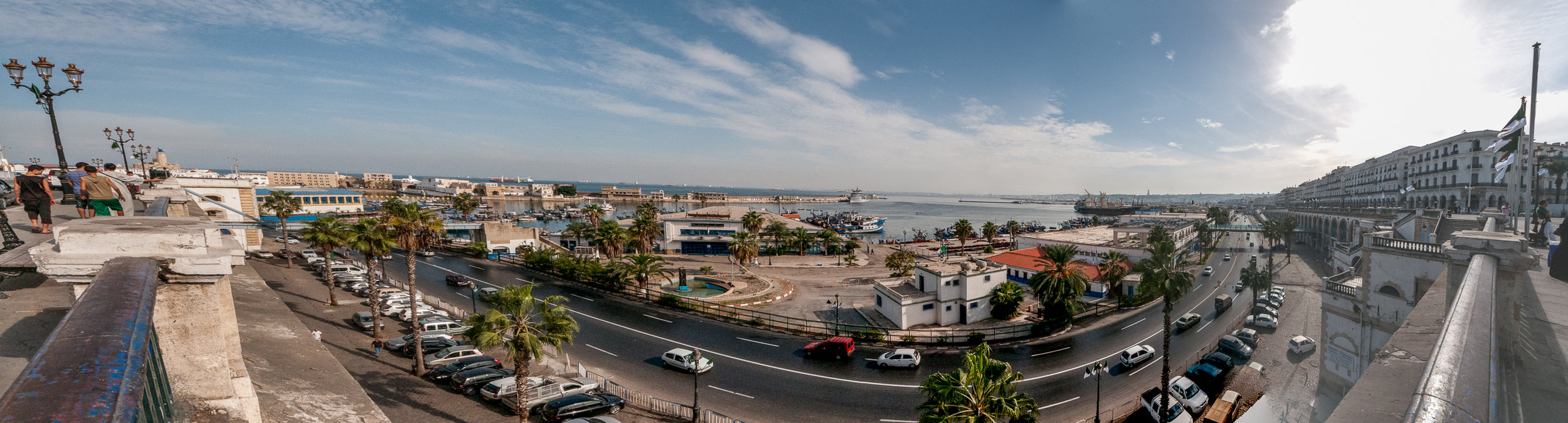 Panoramic of the Algiers waterfront