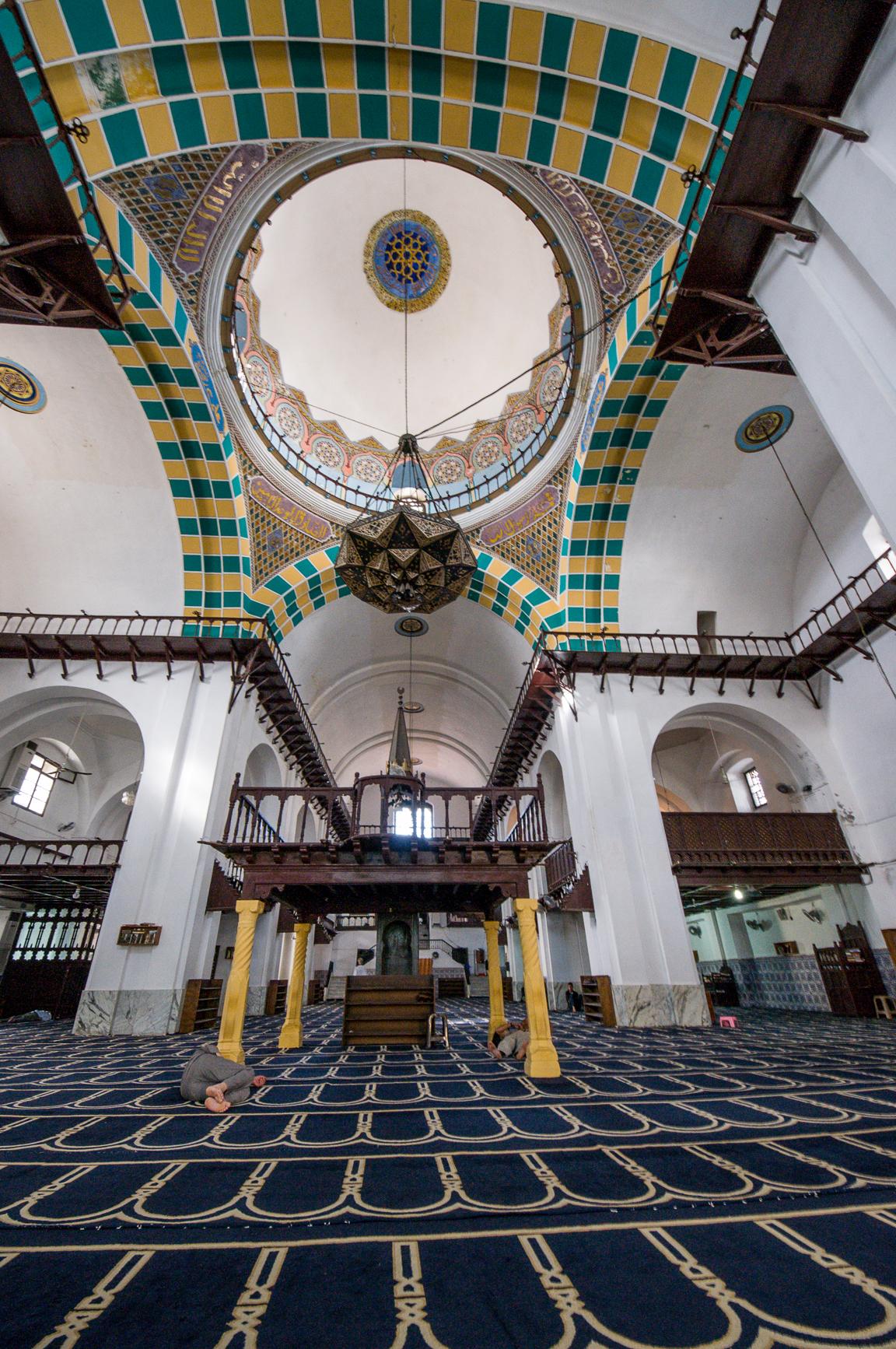 Inside the El Djadid mosque