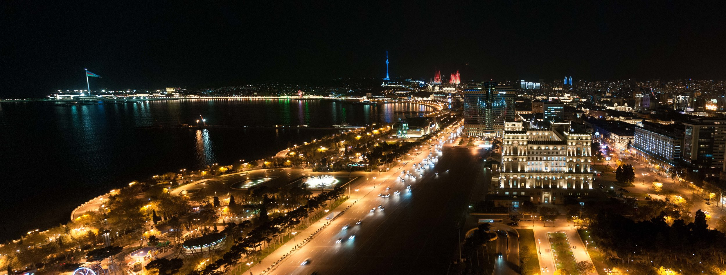 View from the Marriott Baku hotel. This was pretty much the view from my room!