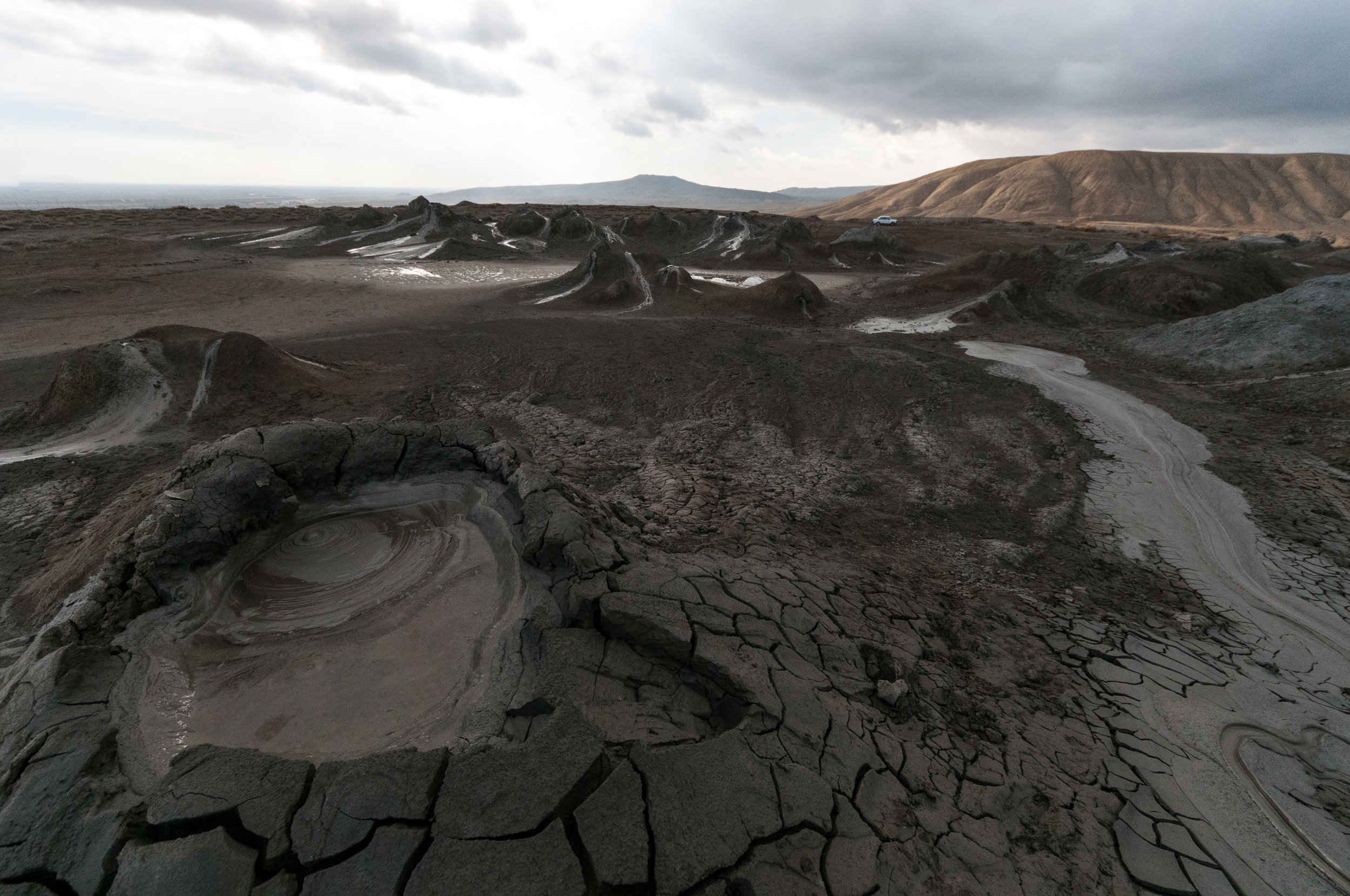 Dramatic landscape, created by the mud