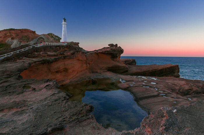 Castle Point lighthouse. Beautiful in the evening light.