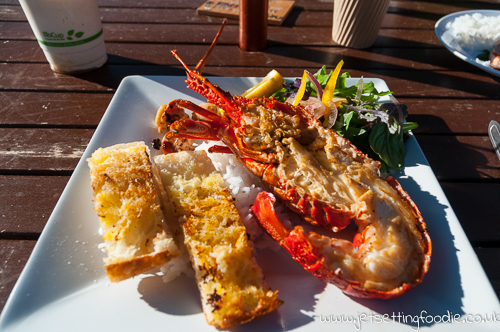 Freshly grilled lobster, scallops, sunshine and seashore...