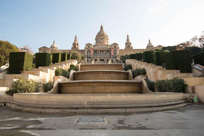 Taking in sights such as the Museu Nacional d'Art de Catalunya...