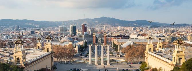 View from the Museu Nacional d'Art de Catalunya