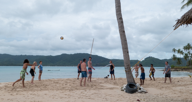 Volleyball was a favourite activity on pretty much every island we landed on.