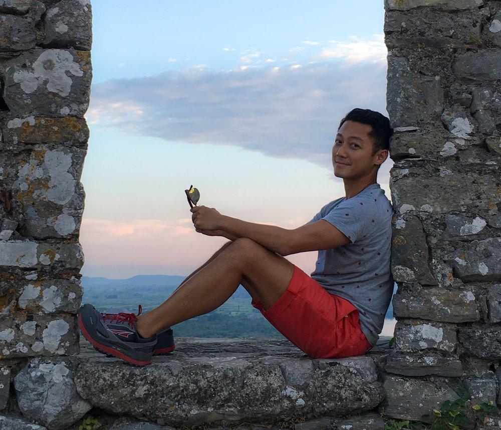Chilling out at Rozafa Castle, Albania
